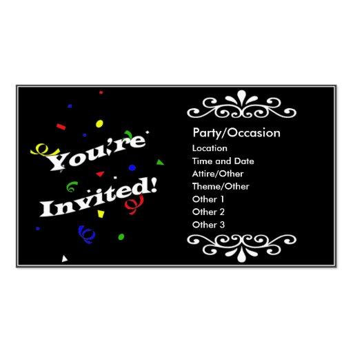 Anúncio do partido cartao de visita