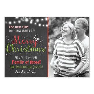 Anúncio do quadro da gravidez do Feliz Natal