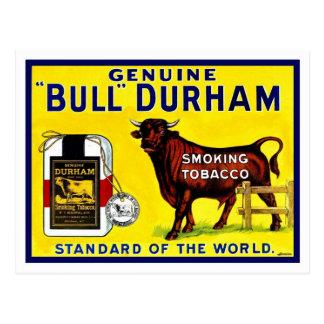 Anúncio do tabaco de Bull Durham dos 1890s do Cartão Postal
