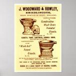 Anúncio do toalete do vintage poster