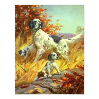 Anúncio do treinamento de campo do setter do cão convite 10.79 x 13.97cm