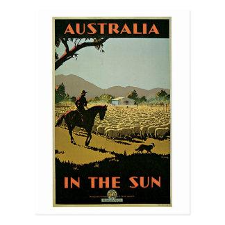 Anúncio do viagem de Austrália dos anos 30 do Cartão Postal