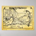 Anúncio do viagem de Cape Cod do vintage com Posteres