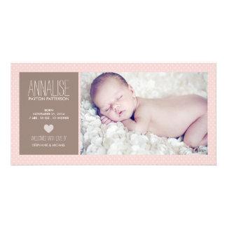 Anúncio doce do nascimento do bebé da foto do cartão com foto