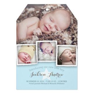 Anúncio doce do nascimento do bebé do bebê moderno