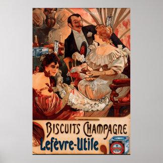 Anúncio dos biscoitos de Alphonse Mucha do poster