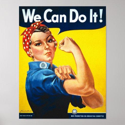 Anúncio dos direitos das mulheres do vintage posteres