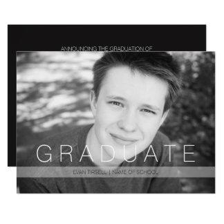 Anúncio e partido graduados modernos da foto