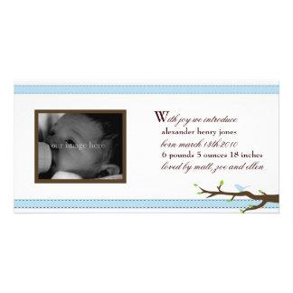 Anúncio elegante da fita cartão com foto