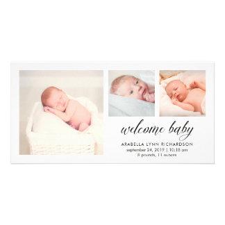 Anúncio elegante simples   do nascimento do bebê 3