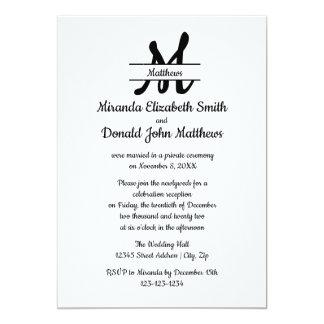 Anúncio elegante simples formal do casamento do