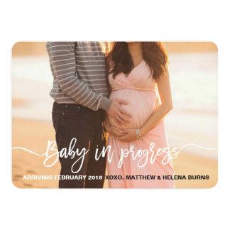 Anúncio em andamento do bebê