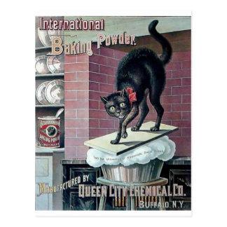 Anúncio engraçado do poster do fermento em pó do cartão postal