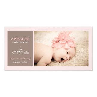 Anúncio especial do nascimento do bebé da foto do  cartao com foto personalizado