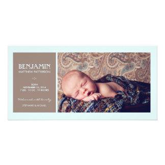 Anúncio especial do nascimento do bebé da foto do  cartao com fotos personalizado