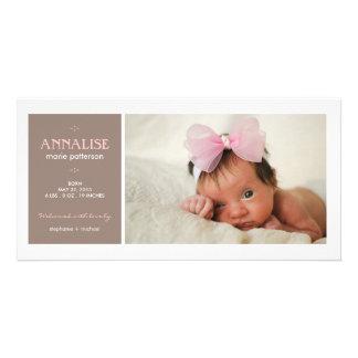 Anúncio especial do nascimento do bebé da foto do  cartoes com fotos personalizados