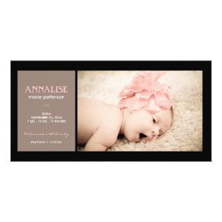 Anúncio especial do nascimento do bebé da foto do  cartao com foto