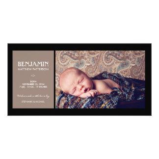 Anúncio especial do nascimento do bebê da foto do  cartão com foto