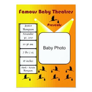 Anúncio famoso do teatro do bebê convite 12.7 x 17.78cm