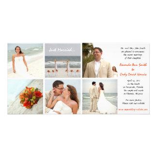 Anúncio feito sob encomenda do casamento da foto cartão com foto