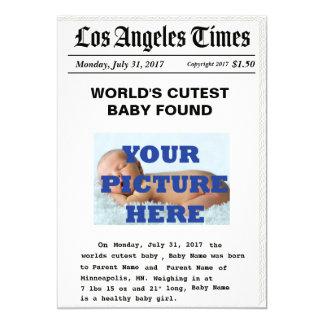 Anúncio feito sob encomenda do nascimento do papel