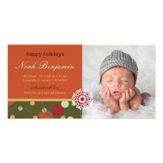 Anúncio festivo do nascimento do feriado dos cartão com foto