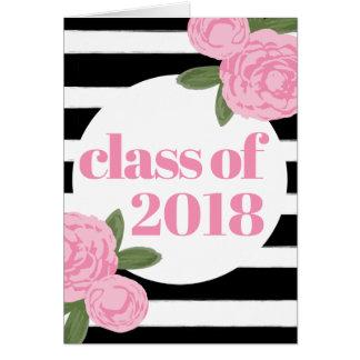 Anúncio floral da graduação da foto da listra