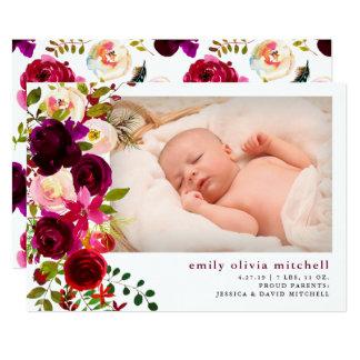 Anúncio floral do nascimento da foto de Boho  