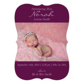 Anúncio floral moderno do nascimento da foto