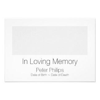 Anúncio fúnebre do modelo - adicione a imagem convite 9.52 x 12.7cm