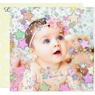 Anúncio Glittery do nascimento do bebê das