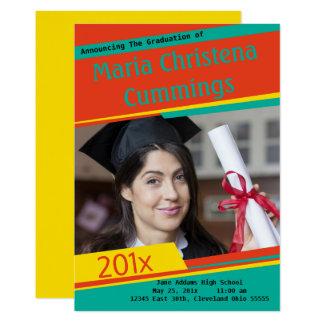 Anúncio graduado de obstrução colorido