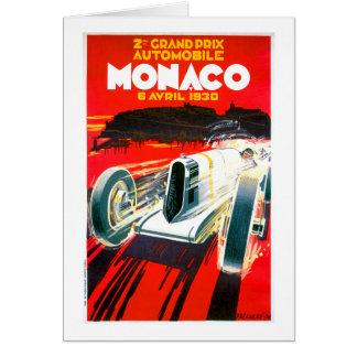 Anúncio grande do automóvel do vintage de Monaco