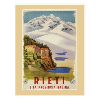 Anúncio italiano do poster de viagens do vintage cartão postal