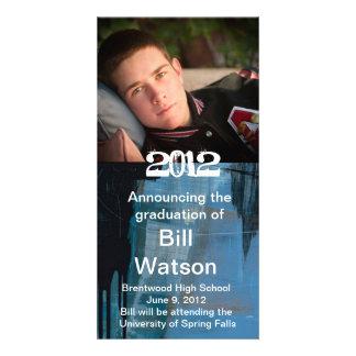 Anúncio legal da graduação cartão com foto
