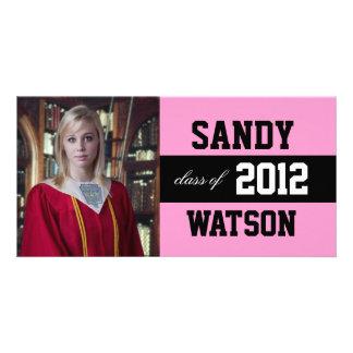 Anúncio legal da graduação cartao com fotos