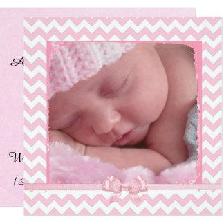 Anúncio listrado cor-de-rosa & branco do