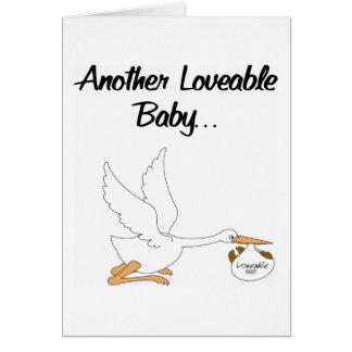 Anúncio Loveable do nascimento dos bebês Cartão Comemorativo