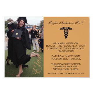 Anúncio médico da graduação da escola de Brown RN Convite 12.7 X 17.78cm