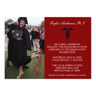 Anúncio médico marrom da graduação da escola do RN Convite 12.7 X 17.78cm