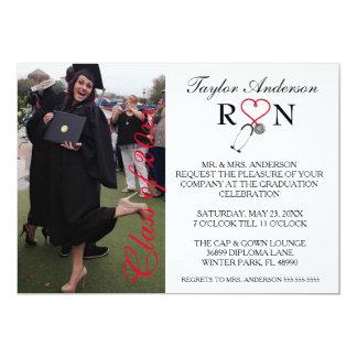 Anúncio médico na moda da graduação da escola do convite 12.7 x 17.78cm