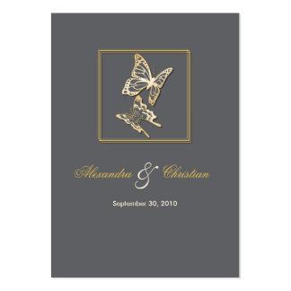 Anúncio Minicard do casamento da borboleta RSVP do Cartão De Visita Grande