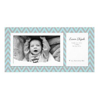 Anúncio moderno customizável do nascimento da foto cartoes com fotos