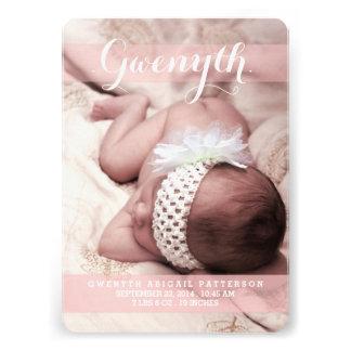 Anúncio moderno do nascimento da foto do sonho o m