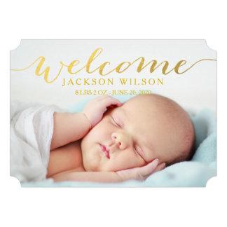 Anúncio moderno simples da foto do nascimento do b