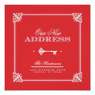 Anúncio movente chave elegante convite personalizado