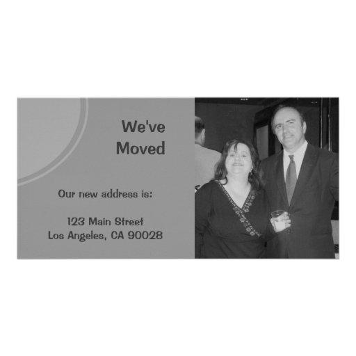 Anúncio movente cinzento simples cartão com foto