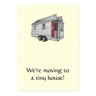 Anúncio movente da casa minúscula
