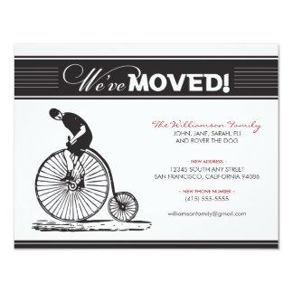 Anúncio movente da família antiga da bicicleta convite 10.79 x 13.97cm