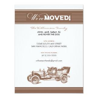 Anúncio movente da família do carro antigo convite 10.79 x 13.97cm